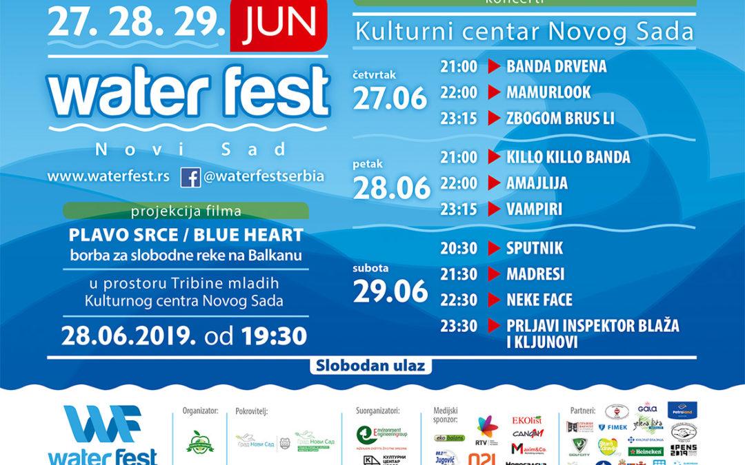 """""""WATER FEST 2019"""" od 27. do 29. juna u Novom Sadu"""